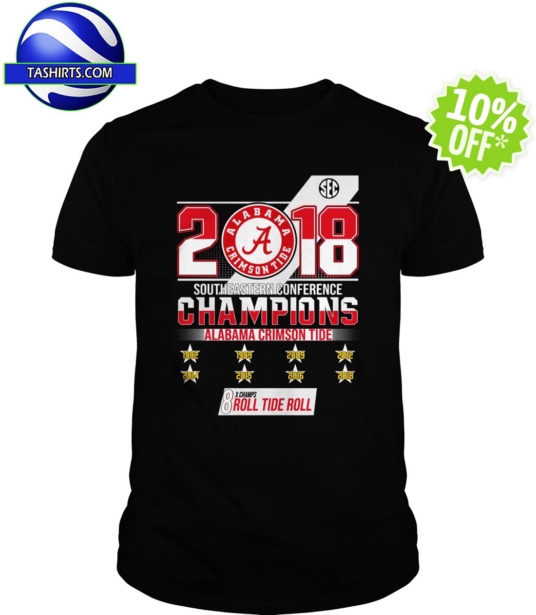 2018 Southeastern Conference Champions Alabama Crimson Tide shirt