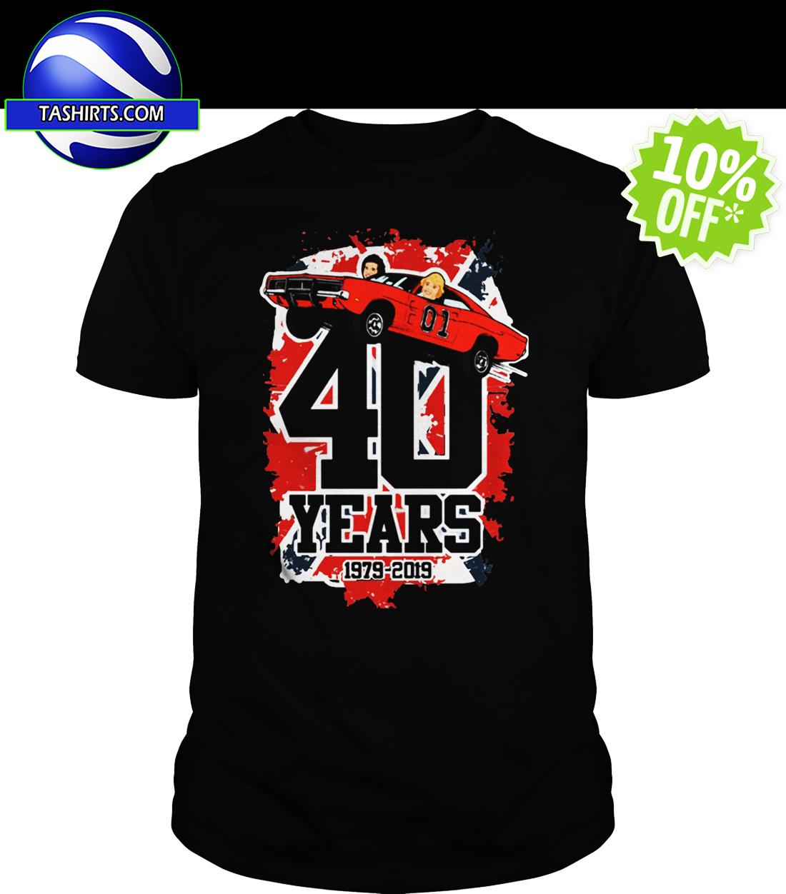 40 Years 1979-2019 The Dukes of Hazzard shirt