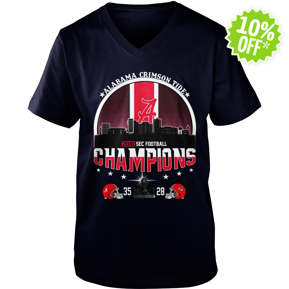 Alabama Crimson Tide 2018 SEC Football Champions v-neck