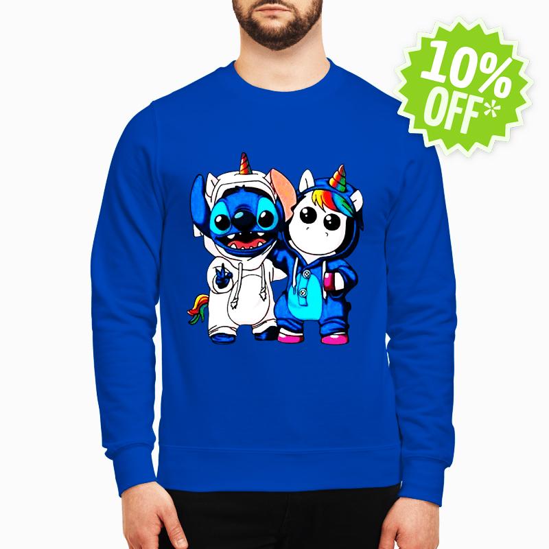 Baby Stitch and Unicorn sweatshirt