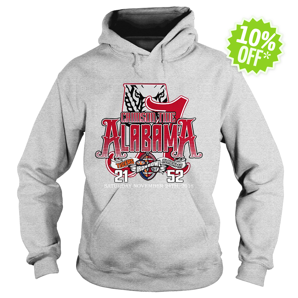 Crimson tide Alabama A tigers Iron Bowl Saturday November 24th 2018 hoodie