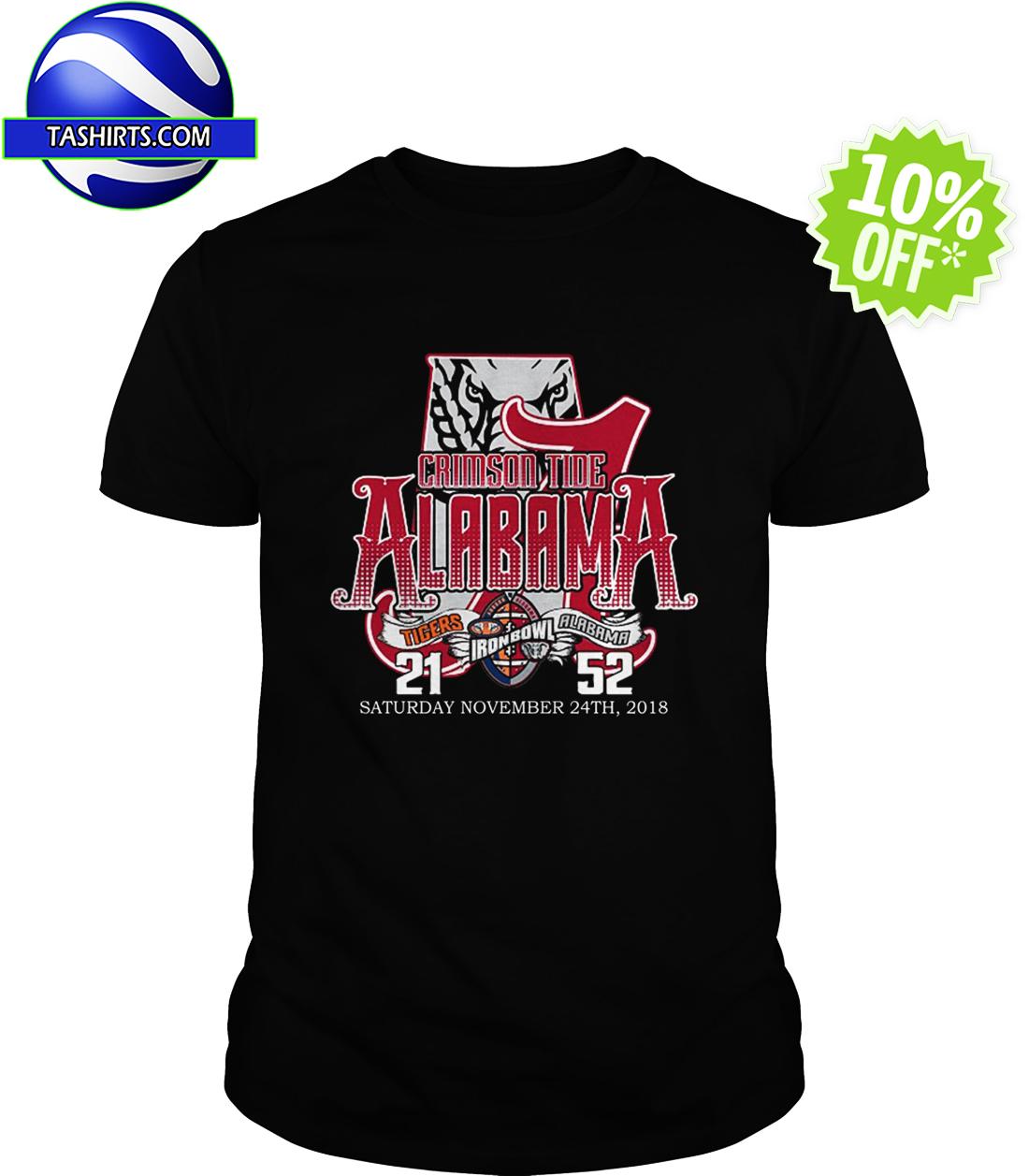 Crimson tide Alabama A tigers Iron Bowl Saturday November 24th 2018 shirt