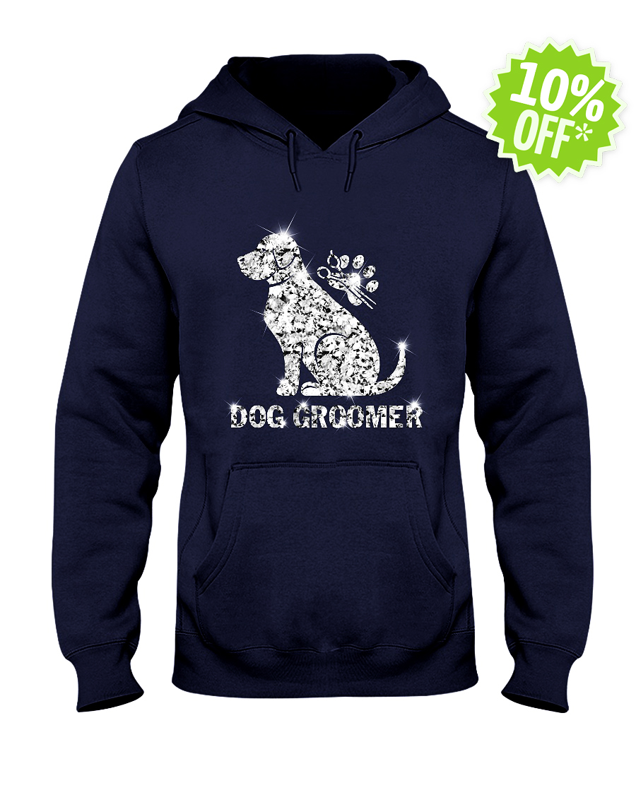 Dog Groomer Diamond Glitter hooded sweatshirt