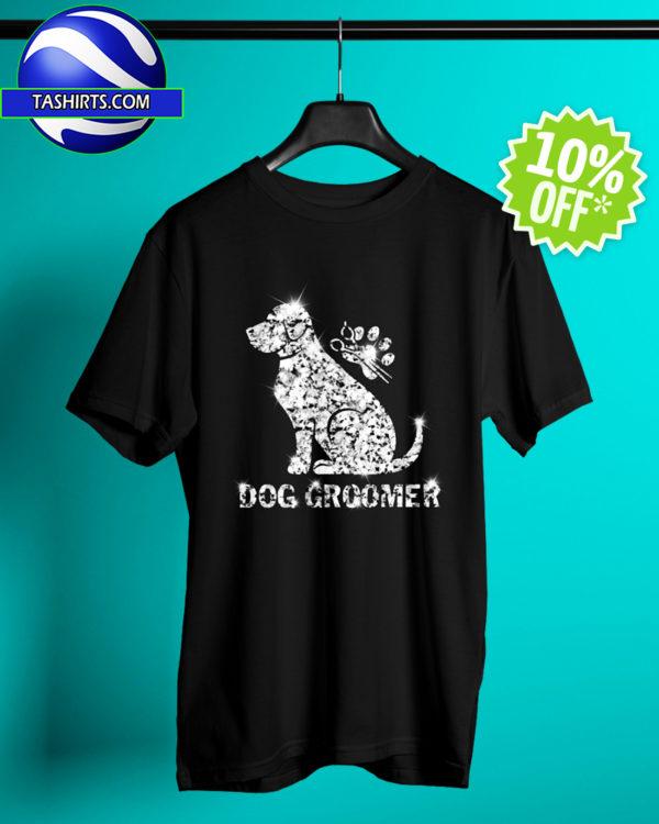 Dog Groomer Diamond Glitter shirt
