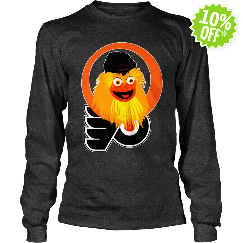 Gritty Philadelphia Flyers logo longsleeve tee