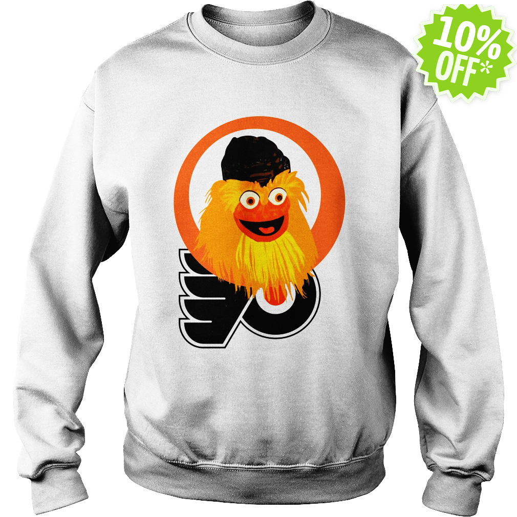 Gritty Philadelphia Flyers logo sweatshirt