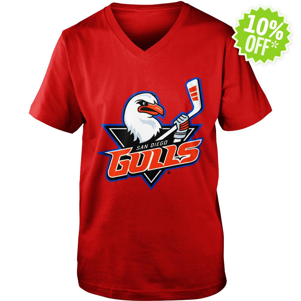 San Diego Gulls Logo v-neck