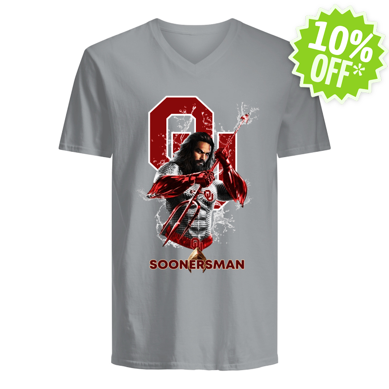 Soonersman Oklahoma Sooners Aquaman v-neck