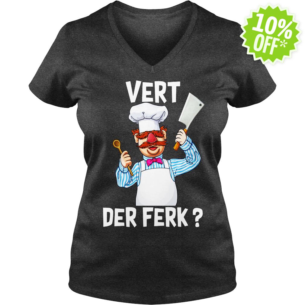 Swedish Chef Vert Der Ferk v-neck