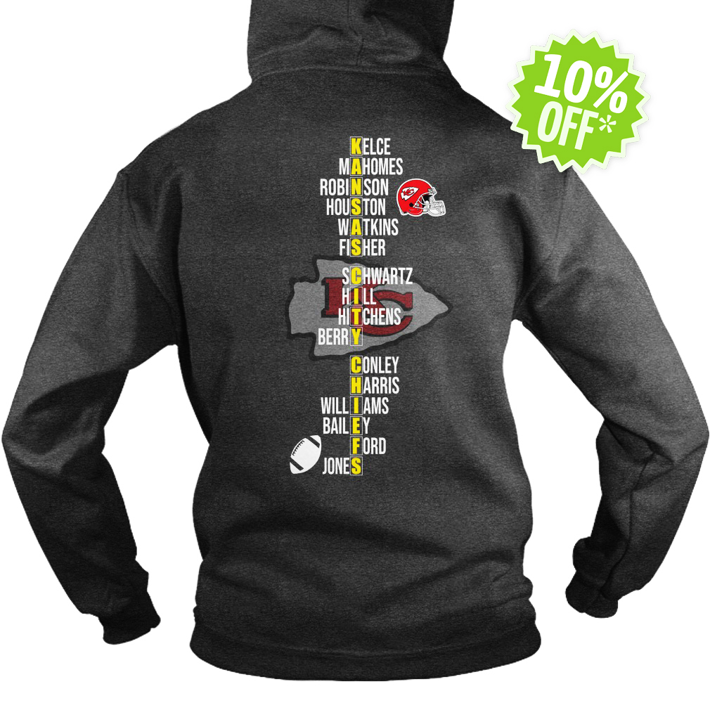 AFC West Division Champions 2018 Kansas City Chiefs Team Names hoodie