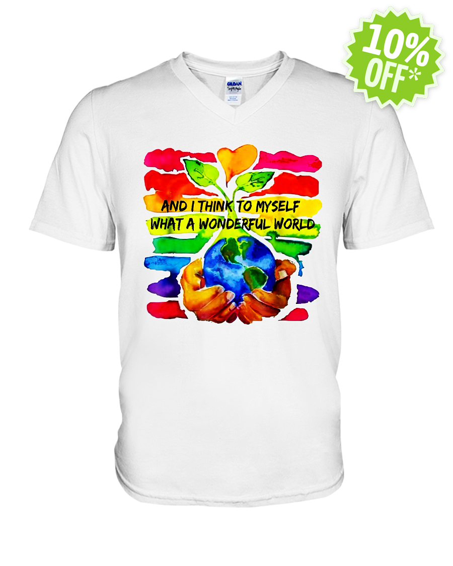 And I Think To Myself What A Wonderful World v-neck