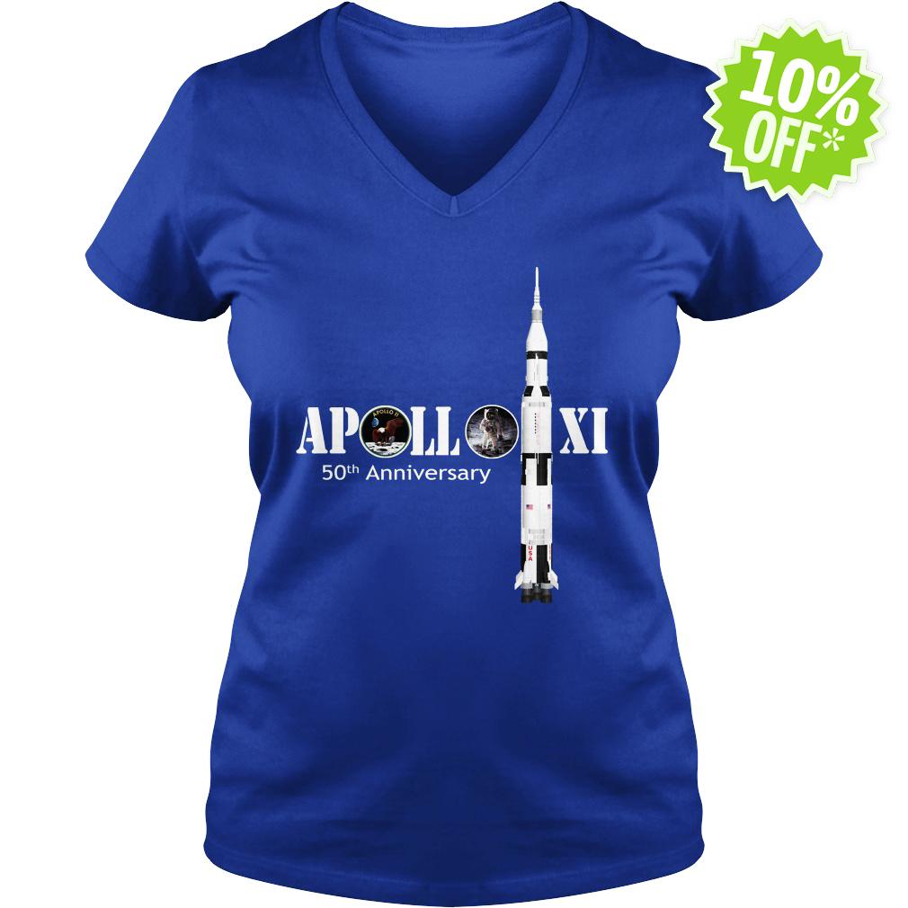 Apollo 50th Anniversary Moon NASA v-neck