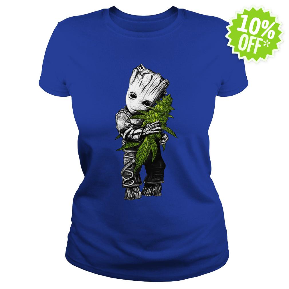 Baby groot hug weed lady shirt