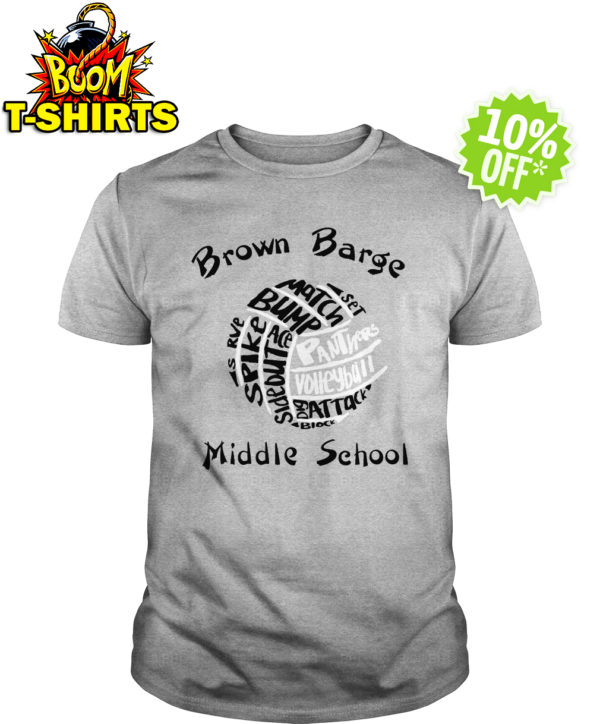 Brown Barge Middle School Panthers volleyball shirt
