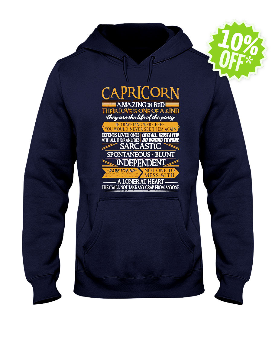 Capricorn Amazing in Bed Their Love Is One of Kind hooded sweatshirt