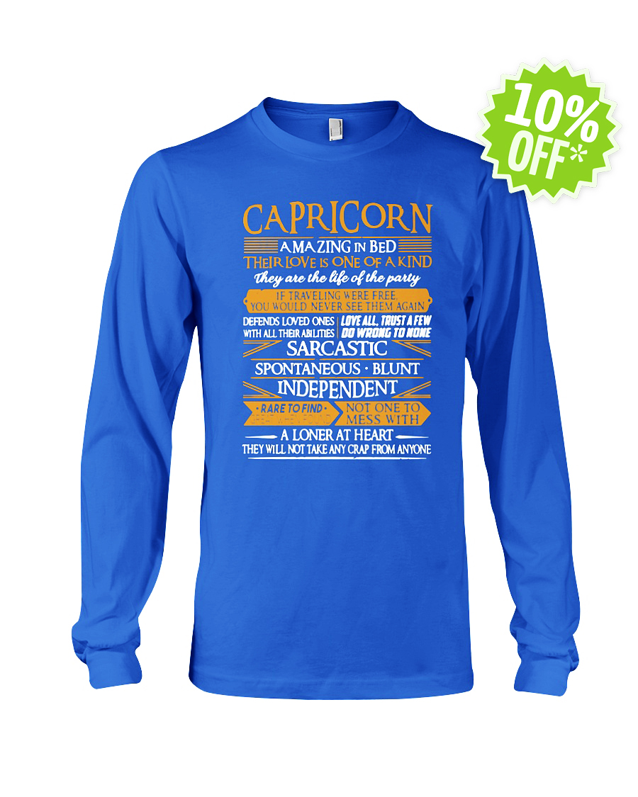 Capricorn Amazing in Bed Their Love Is One of Kind longsleeve tee