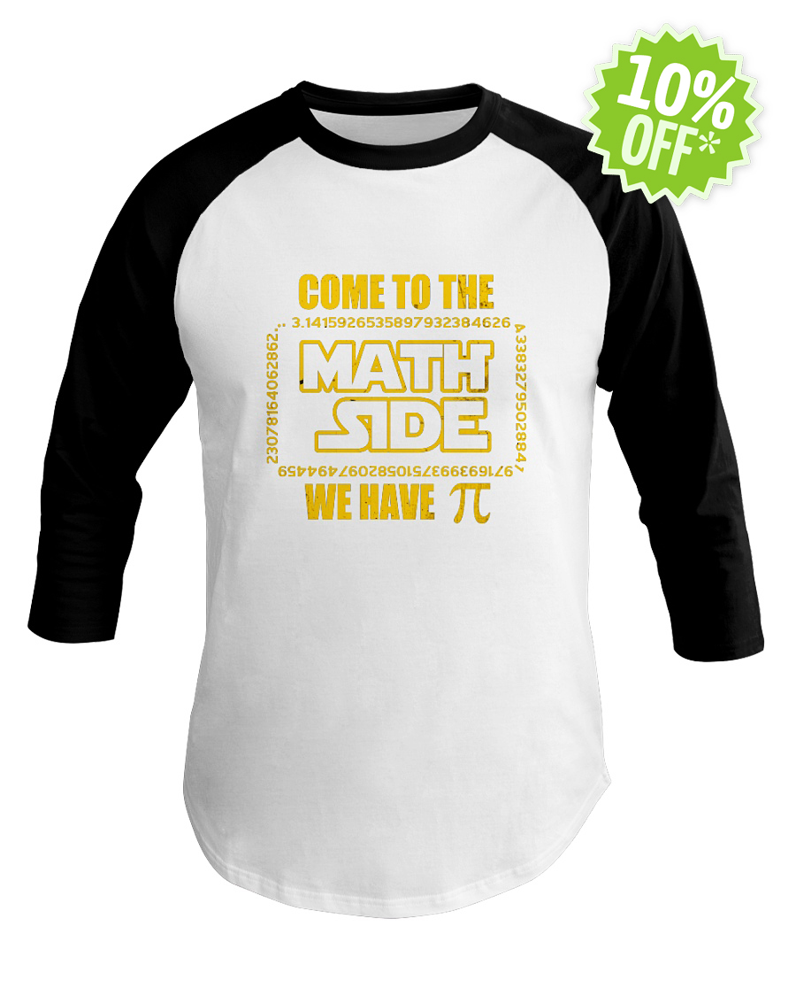 Come to the math side we have Pi baseball tee