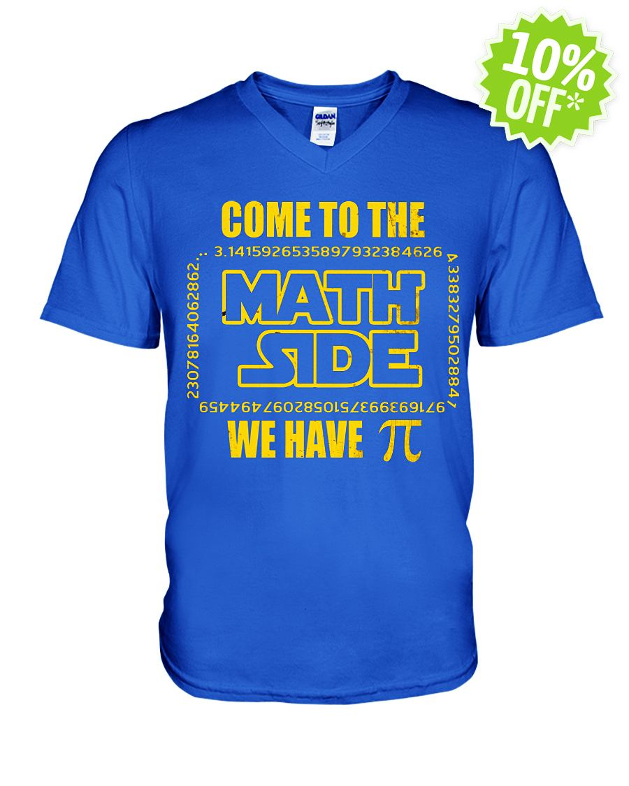 Come to the math side we have Pi v-neck