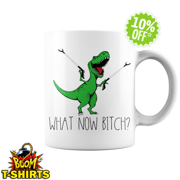 Dinosaurs T-Rex What now bitch mug
