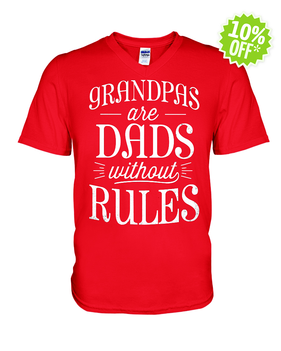 Grandpas Are Dads without Rules v-neck