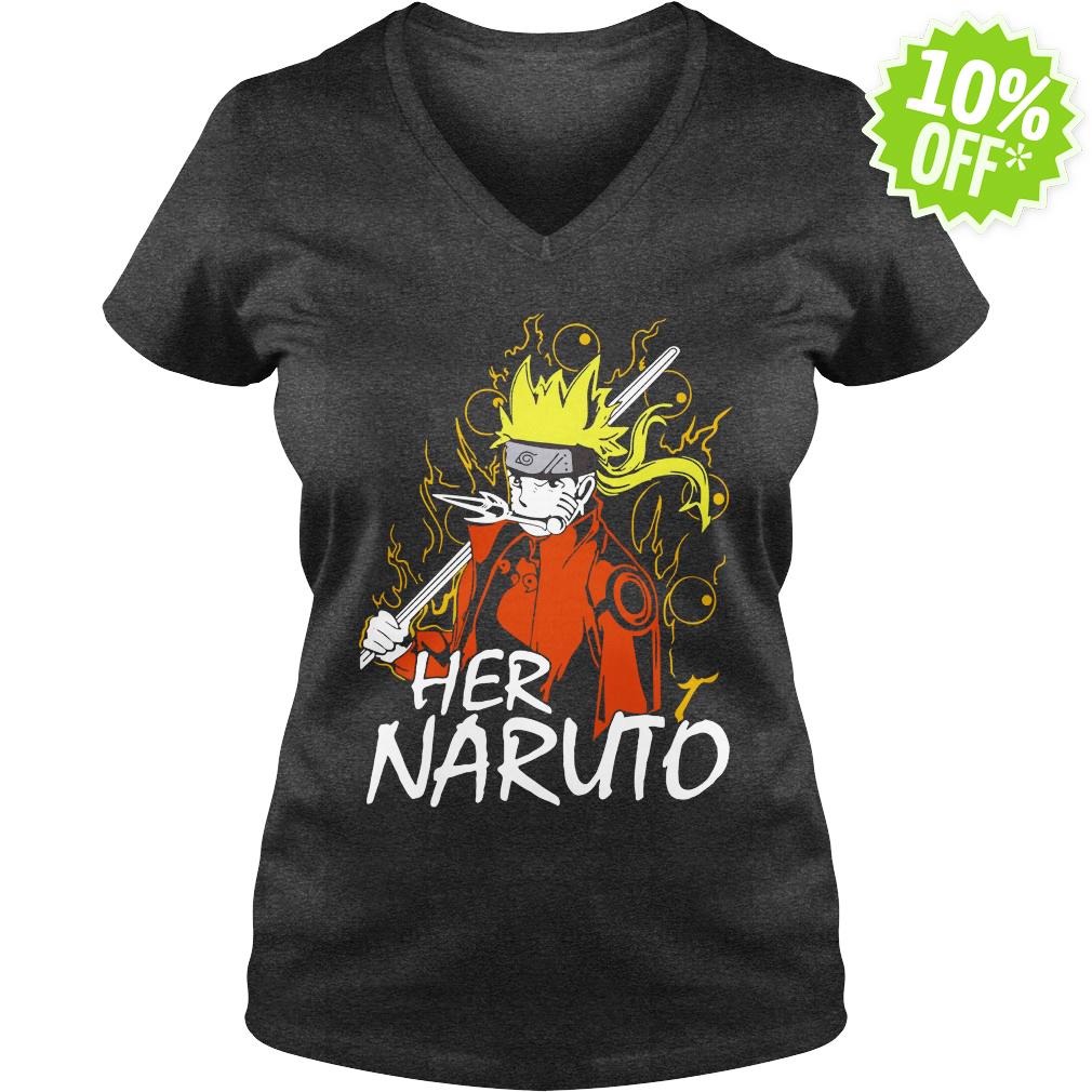 Her Naruto v-neck