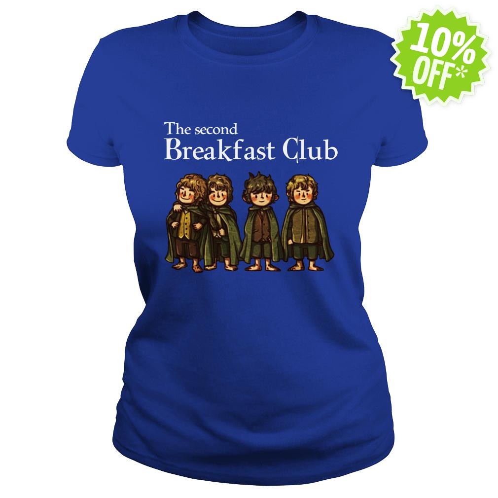 Hobbit The Second Breakfast Club lady shirt