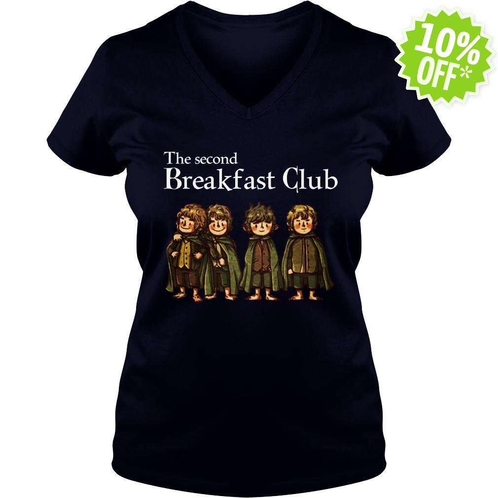 Hobbit The Second Breakfast Club v-neck