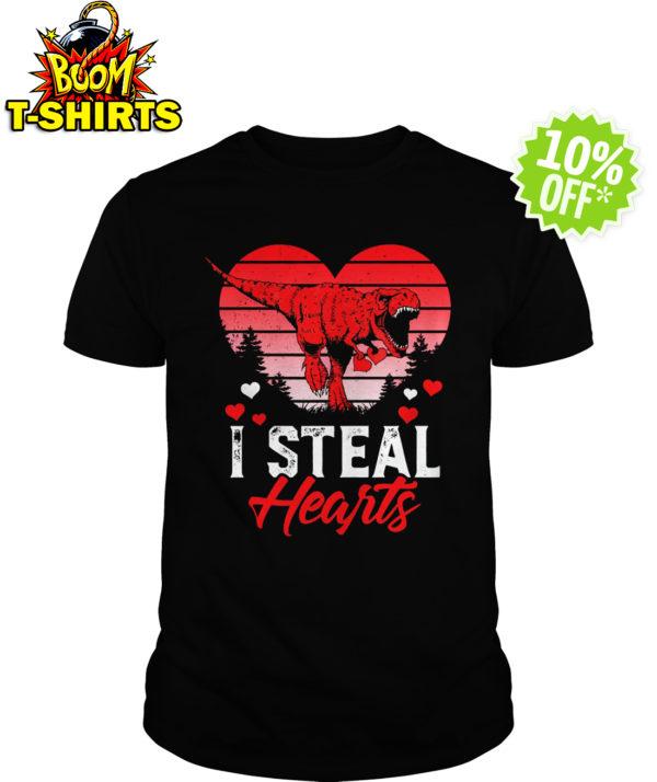 I Steal Hearts Dinosaur T Rex Valentines shirt