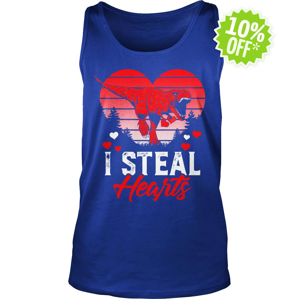 I Steal Hearts Dinosaur T Rex Valentines tank top