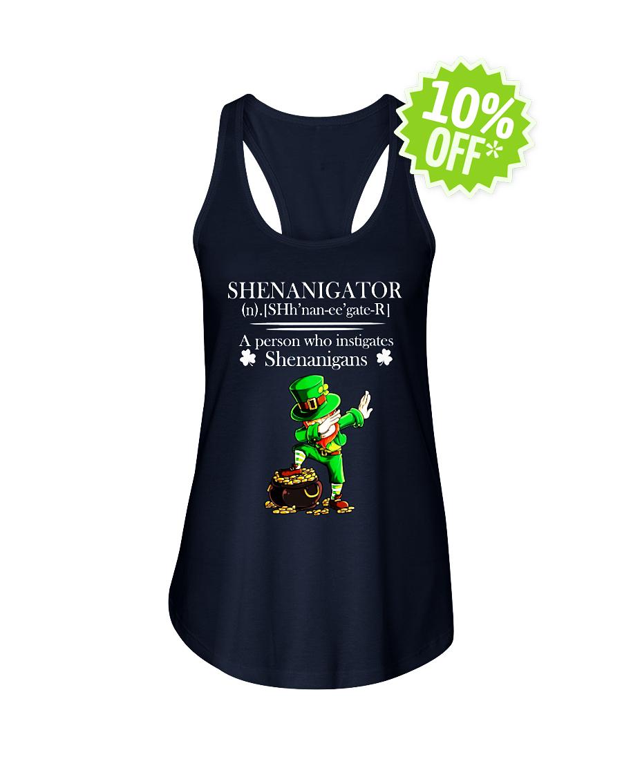Leprechaun Dabbing Shenanigator Definition A Person Who Instigates Shenanigans flowy tank
