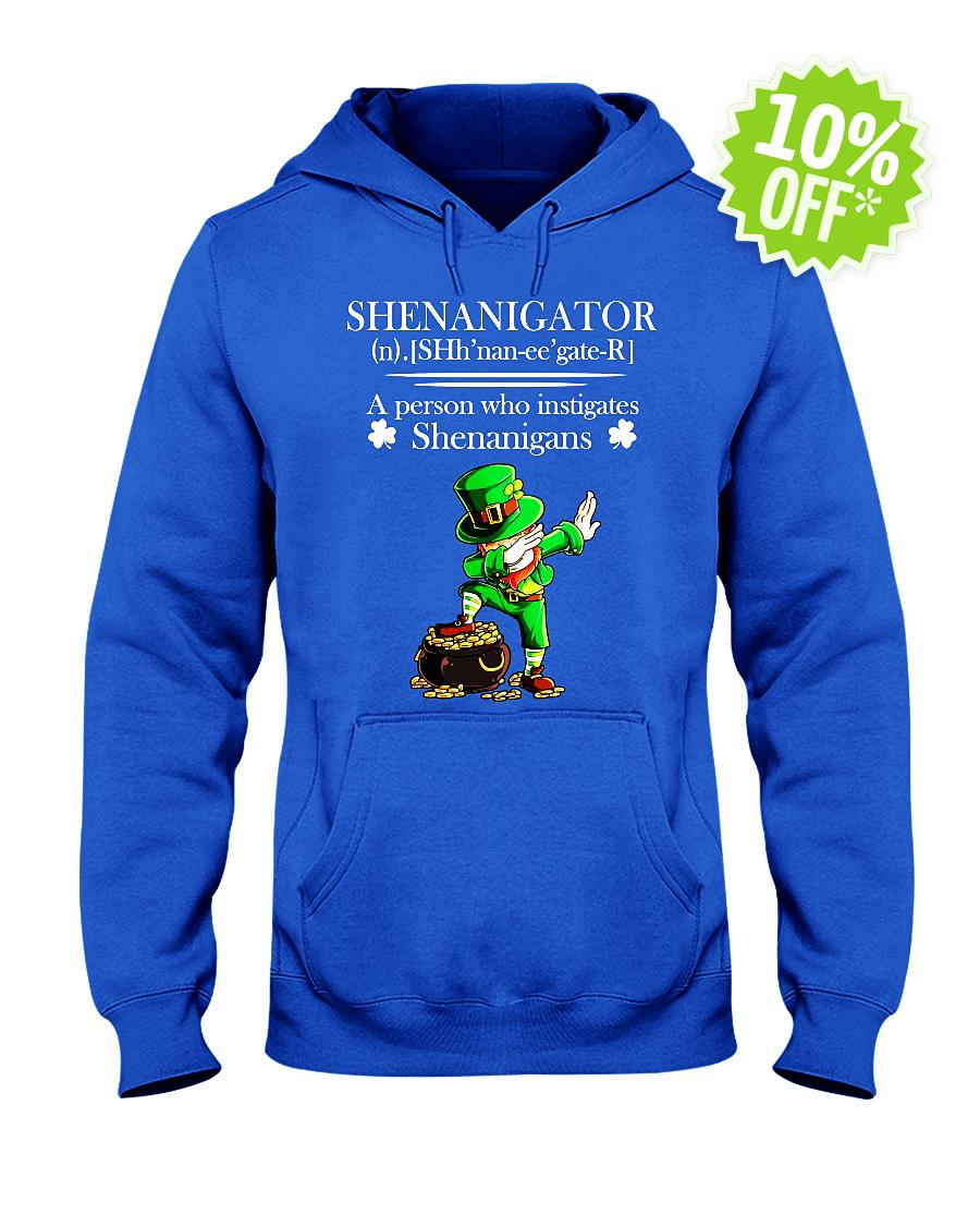 Leprechaun Dabbing Shenanigator Definition A Person Who Instigates Shenanigans hooded sweatshirt