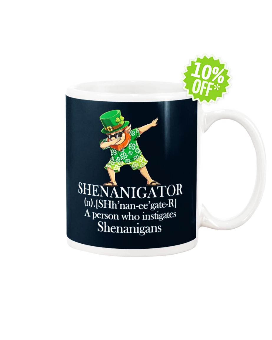 Leprechaun Hawaiian dabbing shenanigator a person who instigates shenanigans mug