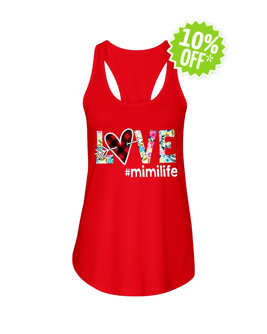 Love hashtag mimilife floral flowy tank