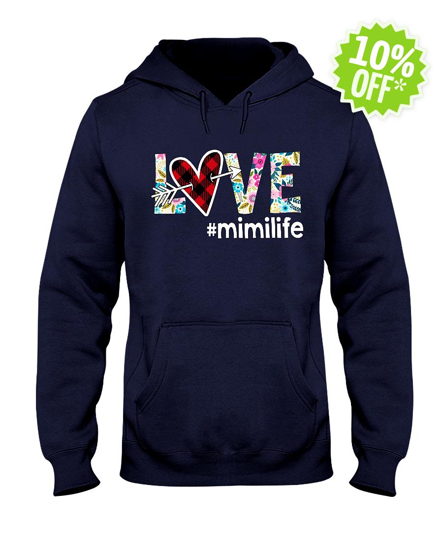 Love hashtag mimilife floral hooded sweatshirt