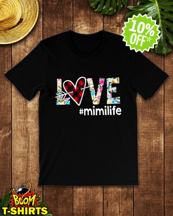 Love hashtag mimilife floral shirt