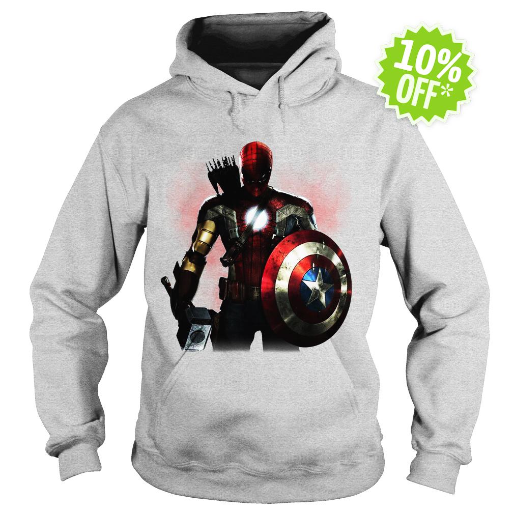 Marvel All avengers heroes in one hoodie
