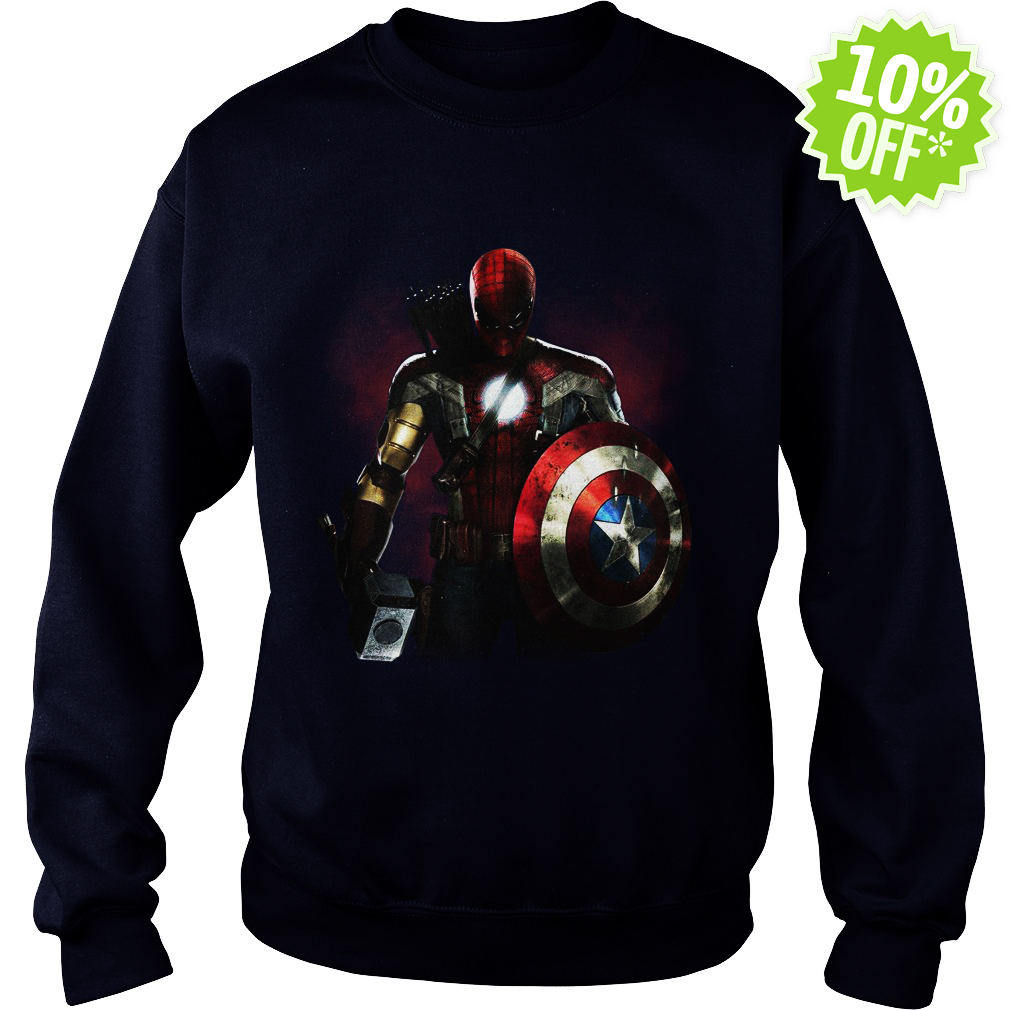 Marvel All avengers heroes in one sweatshirt