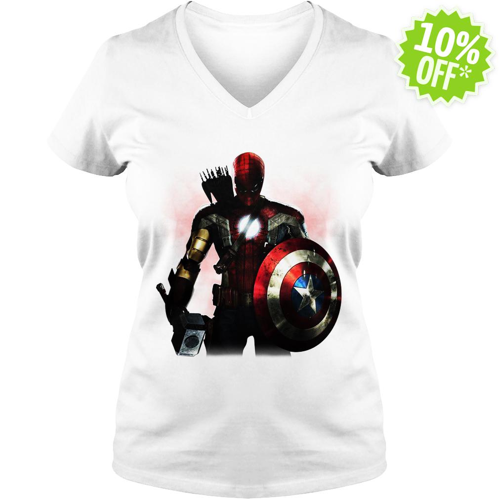 Marvel All avengers heroes in one v-neck