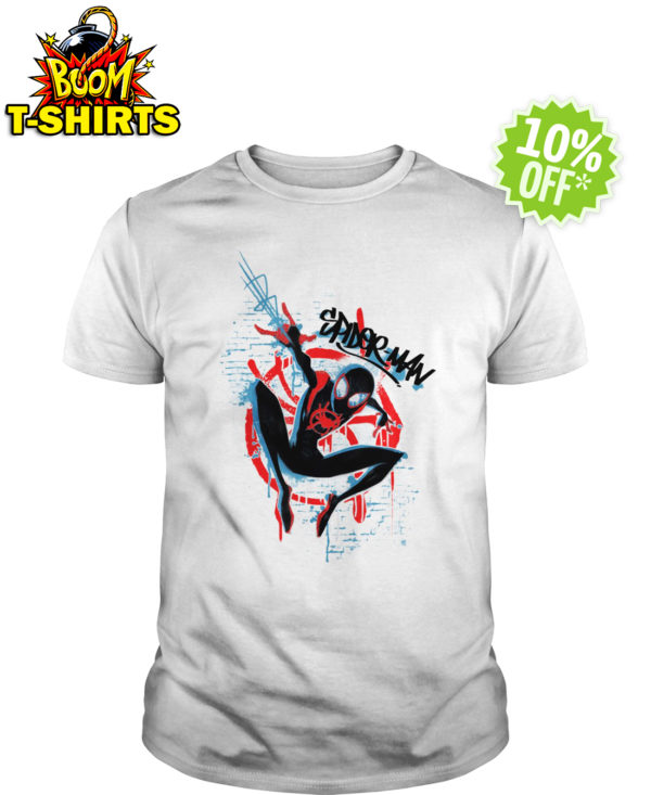 Marvel Spider-Man Spider-Verse Graffiti shirt