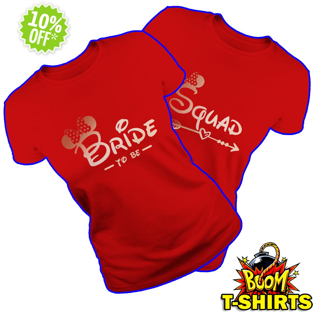 Minnie mouse bride squad Bachelorette party red shirt