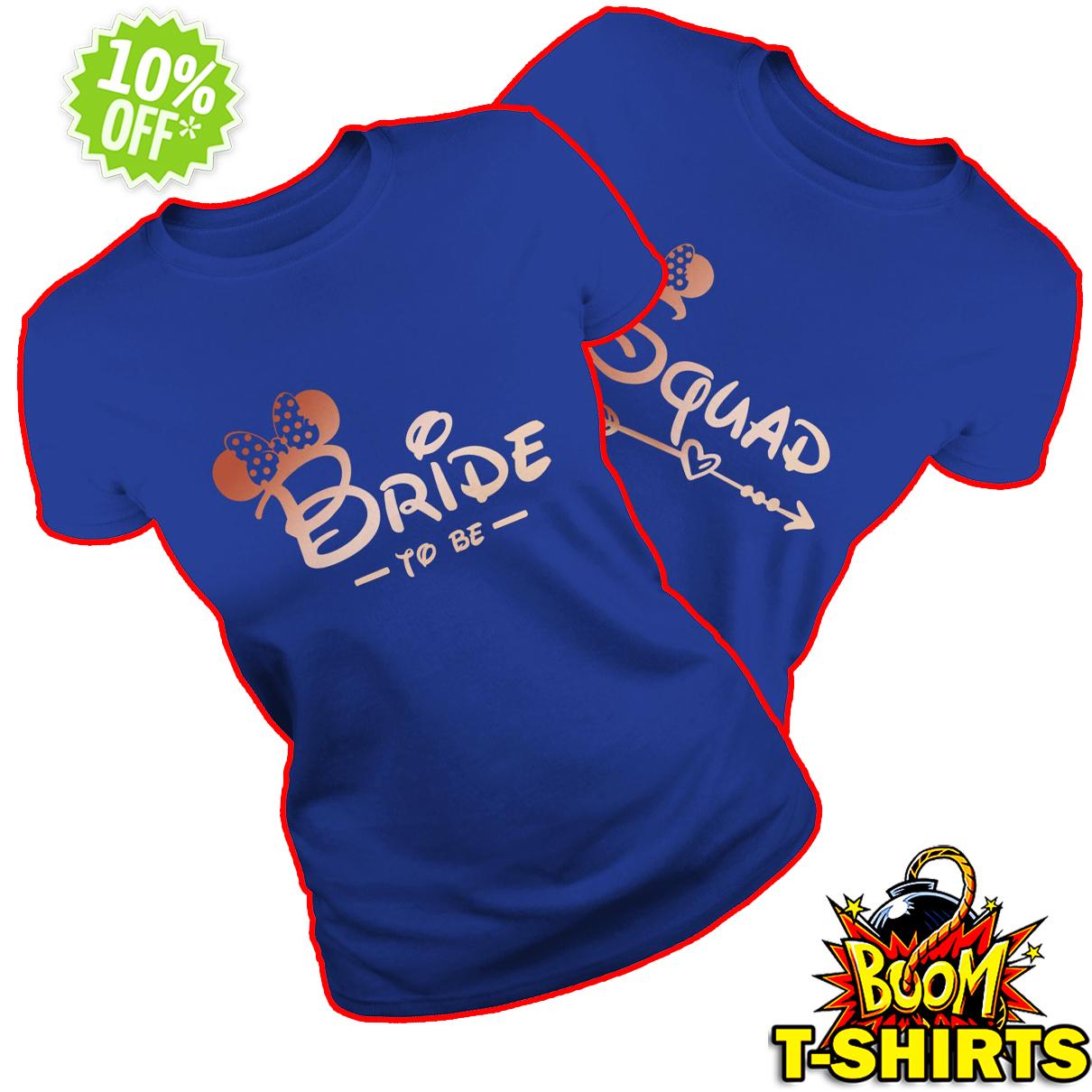 Minnie mouse bride squad Bachelorette party royalblue shirt