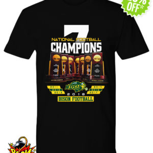National football Champions NCAA NDSU Bison football shirt