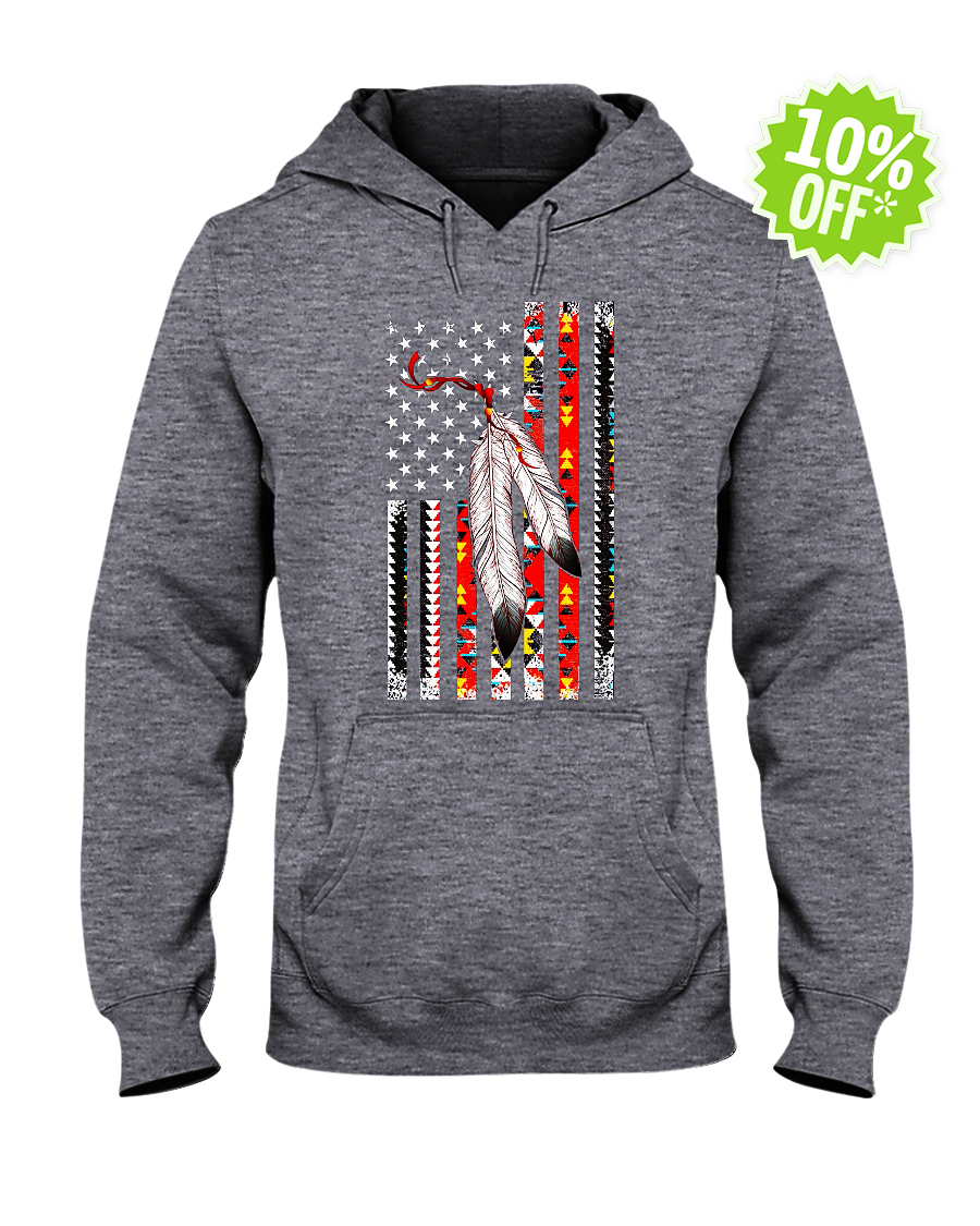Native American Veteran hooded sweatshirt