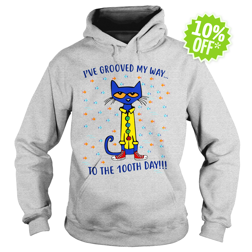 Pete the Cat I've grooved my way to the 100th day hoodie
