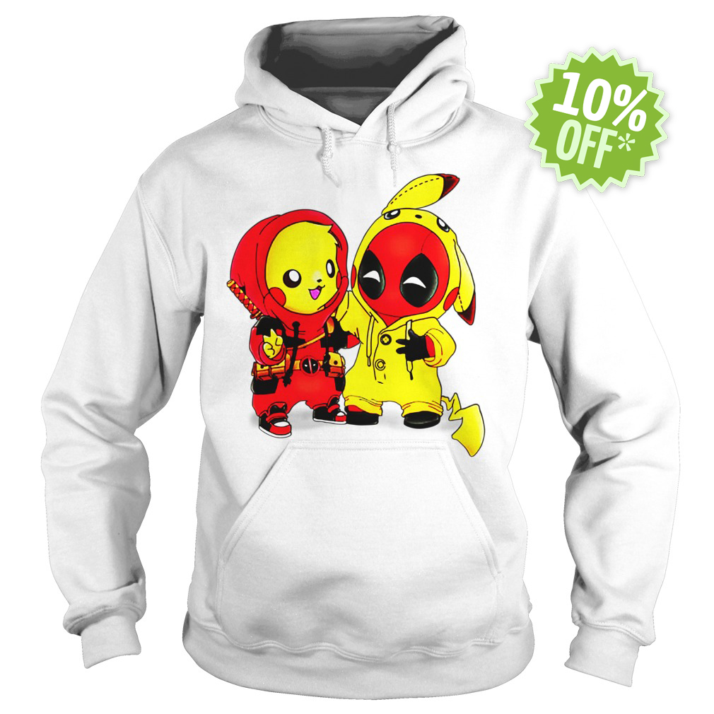 Pikapool Pikachu Pokemon and Deadpool hoodie