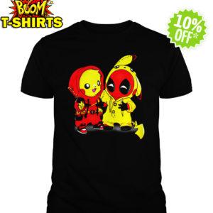 Pikapool Pikachu Pokemon and Deadpool shirt