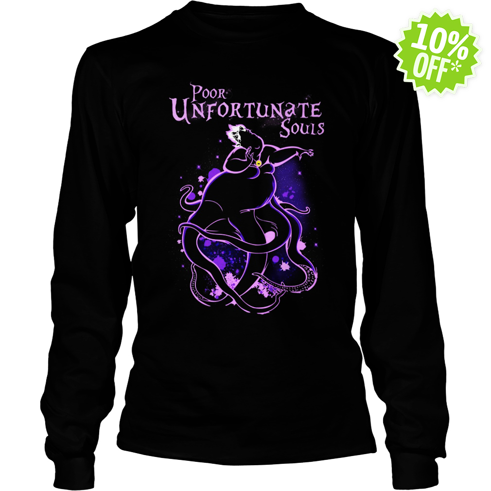 Poor Unfortunate Souls Ursula Disney longsleeve tee