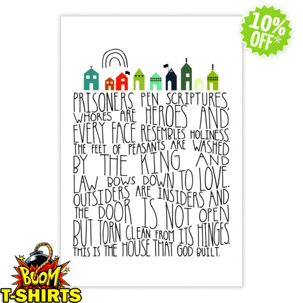 Prisoners pen scriptures whores are heroes poster
