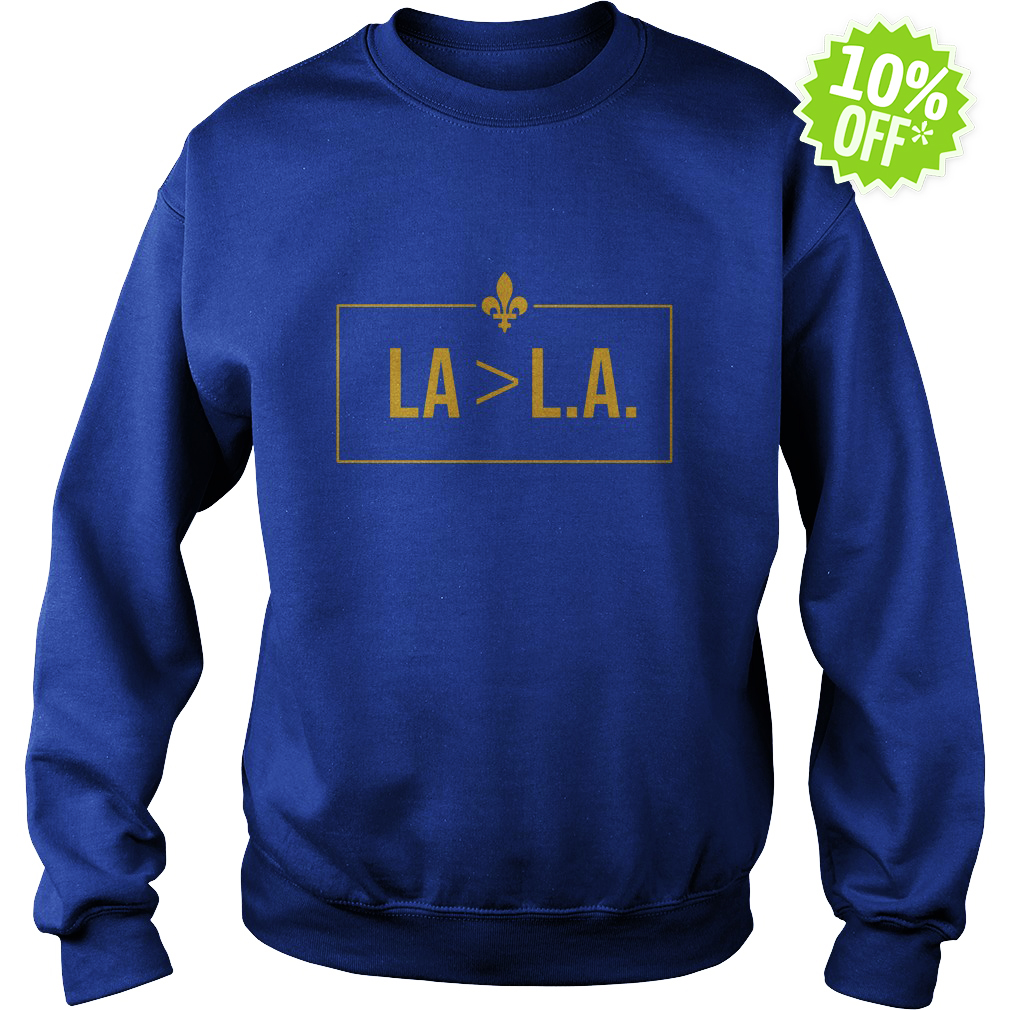 Saints LA Greater-than L.A sweatshirt