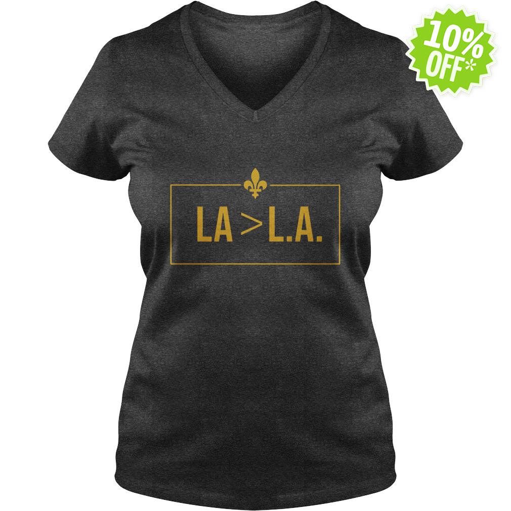 Saints LA Greater-than L.A v-neck